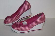 Skechers Wedge Casual Heels, #37330, Hot Pink/White, Women's US Size 6