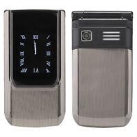 GSM Mobile Phone Dual Screen Clock Display 2 SIM GMS Cellphone For Elderly Man