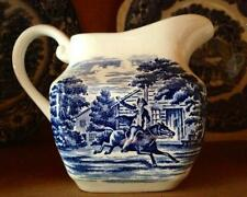 Liberty Blue  Staffordshire Creamer Paul Revere White & Blue  Excellent
