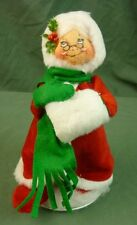 "Annalee Dolls 7"" Velour Mrs Santa w/Coat & Muff 1985-86 Christmas 5215 AL687"