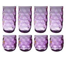 QG Colorful Acrylic Plastic 14 & 23 oz Drinking Glass Tumbler Set of 8 Purple