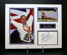 Helen GLOVER Signed Mounted Photo Display AFTAL COA Olympic Rower, Medal Winner
