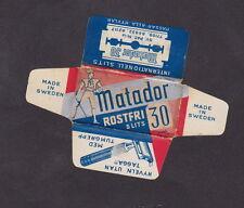 Etiquette de lame de rasoir Suède   BN21233 Matador Toréador