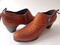 Antia Spain Brown Leather Booties Heels 39.5 US 8 TO DIE FOR STYLE so cute