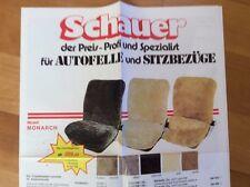 Catalogo accessori della ditta brivido Coprisedili auto 1983 con listino prezzi