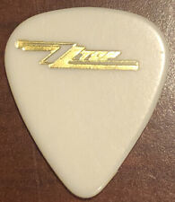 Zz Top Guitar Pick Billy Gibbons Rev Willy G Eliminator Tour Gold On White Rare