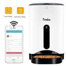 New listing Petsjoy Auto Pet Feeder Smart Cat Dog Food Dispenser Remote Control App Timer