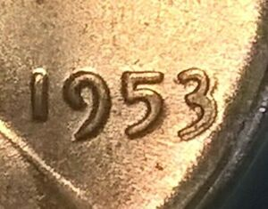 1953 Lincoln Cent    ANACS MS64RD  3/3 variety?