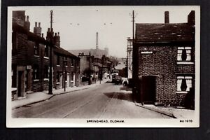 Oldham - Springhead - real photographic postcard
