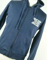 Beefy Sweat Blue Cotton Blend Mens Hoodie Size S