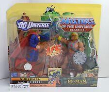 MOTUC, He-Man vs Superman, DC Universe, MOC, figures, MISB