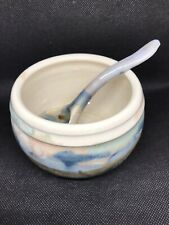 Hand Crafted Wilder '95 Ceramic Bowl & Matching Spoon