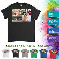 Customised Personalised Custom Printed T-Shirt Men Women Stag Hen Tee 4 Photos