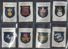 PHILLIPS (SILK) - COUNTY CRICKET BADGES (BDV) - FULL SET OF 17 CARDS