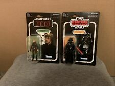 New listing New On Card Hasbro Vintage Collection Vc23 & Vc08 Luke & Darth Vader Figure Lot