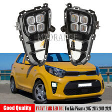 Daytime Running Fog Light Driving Lamps For Kia Picanto 2017 2018 2019 2020 PAIR