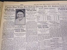 1930 AUGUST 19 NEW YORK TIMES - LOU GEHRIG HITS #35 - NT 4187