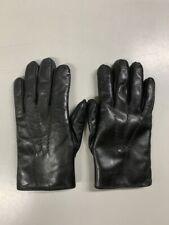 Dents Lumley Rabbit Fur Lined Leather Mens Gloves - Black - Size 8