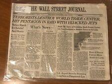 9/11 The Wall Street Journal Newspaper September 12, 2001