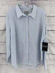 Pure Collection button down shirt 100% silk women size 14/16
