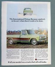 Original 1970 International Pickup Ad COMFORTS NO LUXURY WHEN WORK TO BE DONE