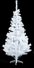 6FT KINGFISHER SNOW WHITE PINE ARTIFICIAL CHRISTMAS XMAS TREE METAL STAND 480TIP