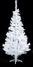 6FT KINGFISHER SNOW WHITE PINE ARTIFICIAL CHRISTMAS XMAS TREE METAL STAND 480TIP