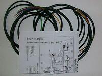 IMPIANTO ELETTRICO ELECTRICAL WIRING MOTO DUCATI 125-175-200 + SCHEMA ELETTRICO