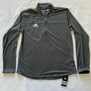 Men's Adidas Long Sleeve Aeroready Quarter Zip Pullover Medium New With Tags