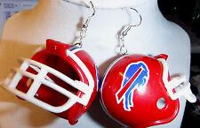 BIG RED BUFFALO BILLS FOOTBALL HELMET 925 EARRINGS NFL Handcrafted NORA WINN