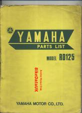 Yamaha RD125 (73-75) Genuine Factory Parts List Catalog Manual Book RD 125 BX54