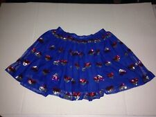 CAT & JACK BLUE SILVER RED PURPLE HEART SEQUINS LAYERED GIRL SKIRT XL 14-16 NWOT