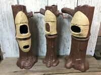 VTG 1983 Star Wars ROTJ Ewok Village Tree Trunk Replacement Parts Lot of 3