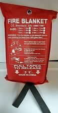 Home Safety Fire Blanket Large 2.0M X 2.0M In Case Quick Release Protection