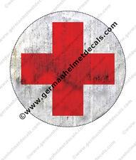 Pre aged WW II German helmet decal - Field medic Red Cross for WW2 M35 M40 M42