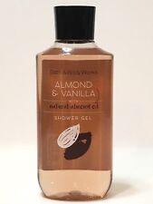 NEW 1 BATH & BODY WORKS ALMOND & VANILLA BODY WASH SHOWER GEL 10 OZ ALMOND OIL