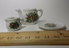 3 Piece Micro Mini Porcelain Tea Set - Made in Japan