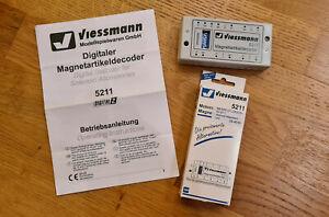 Viessmann 5211 Magnetartikeldecoder in Originalverpackung, inkl Gebrauchsanleit.