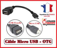 Câble/Adaptateur MICRO USB-B / Mâle OTG vers USB Femelle Smartphone Tablette