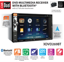 6.2-inch LED Multimedia Touch Screen Double DIN Car Stereo Receiver Bluetooth CD