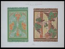 TAPIS, E. A. SEGUY -1901- LITHOGRAPHIE, ART NOUVEAU