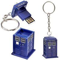 DOCTOR WHO TARDIS 4GB USB STICK WORKING LIGHT KEY-CHAIN GREAT GIFT