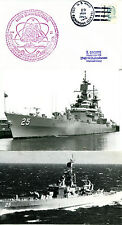 USS BAINBRIDGE CGN CRUISER CACHED NAVAL COVER & MAGAZINE PHOTO & B&W PHOTOGRAPH