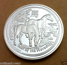 China Year of the Horse Silver Coin China Grand National Racing Race Lucky Cards