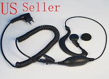 Clip Ear Earpiece Headset Mic for Motorola Radio Walkie Talkie 2pin