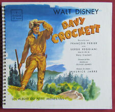 "DAVY CROCKETT 10"" 25 CM  LP ORIG FR  DISNEY LIVRE DISQUE  MAURICE JARRE"