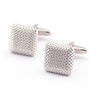 Hot Gentleman Men Wedding Party Gift Silver Color Cuff Link Cufflinks AuSJ3C