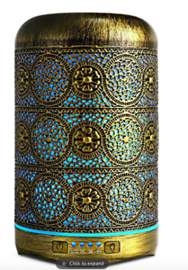 Bronze Metal Moroccan Style Air Humidifier Diffuser Aromatherapy Essential Oil