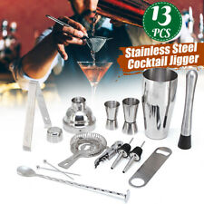13 teiliges Cocktail Shaker Set Cocktail Shaker Edelstahl Glas Bar Set Mixer !