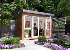Carlsson Titania Garden Office Holz 70mm Flachdach Gartenhaus Gartenhütte Laube